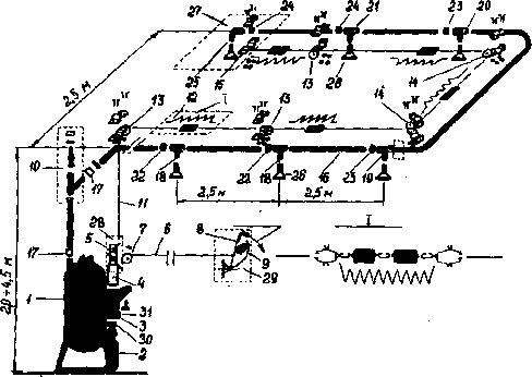 Схема устройства стационарного